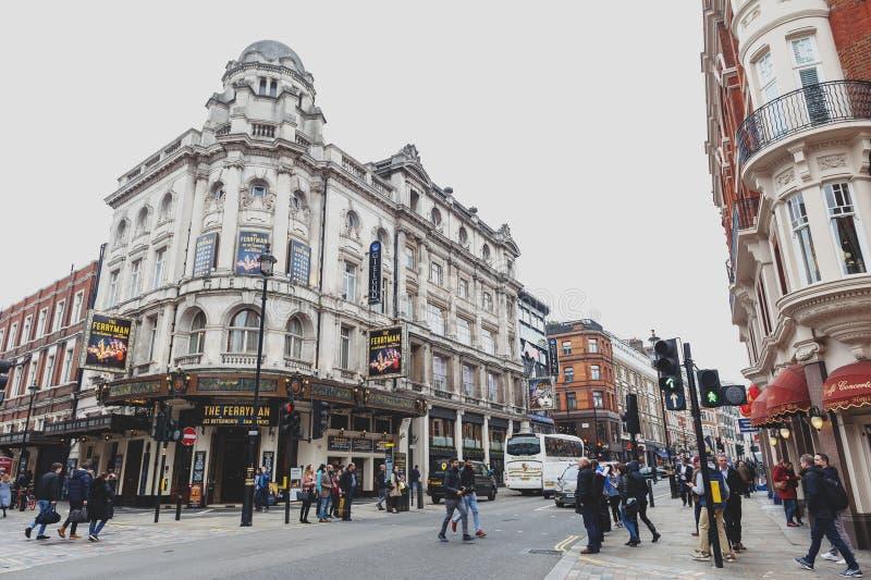 Le théâtre de Gielgud, un théâtre de West End situé sur l'avenue de Shaftesbury à la Cité de Westminster image stock