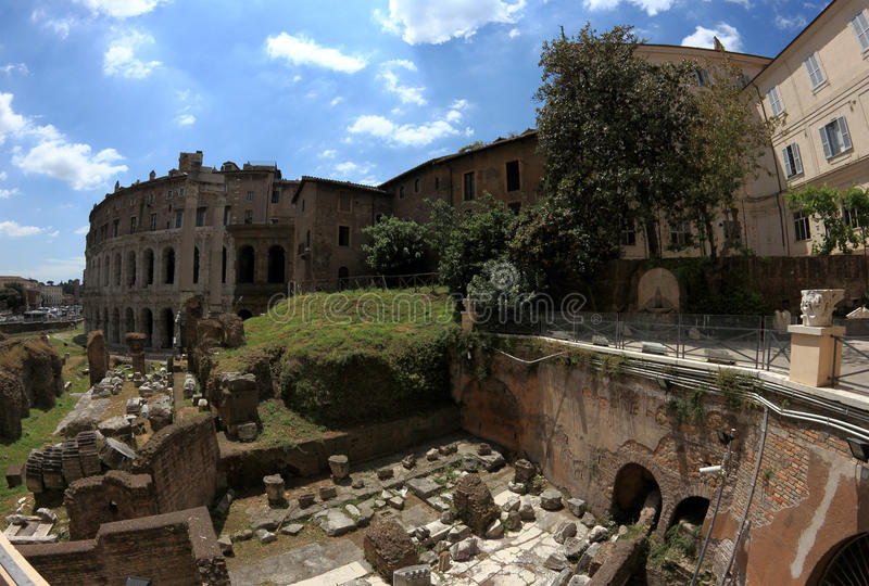 Le théâtre de Marcellus à Rome, Italie photographie stock