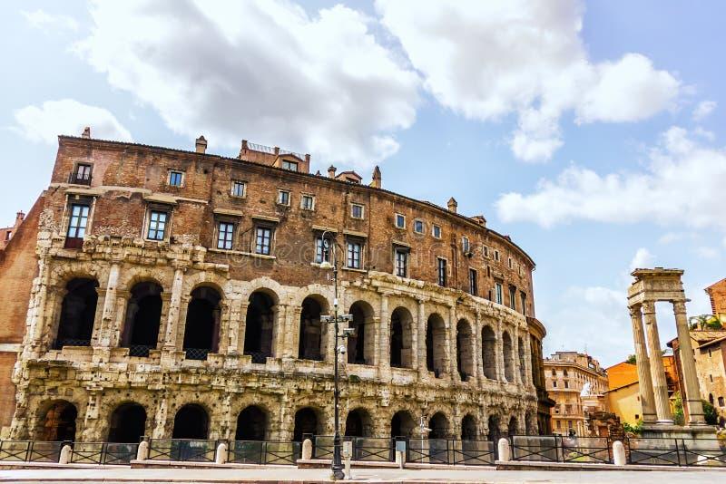 Le théâtre de Marcellus, Rome images stock