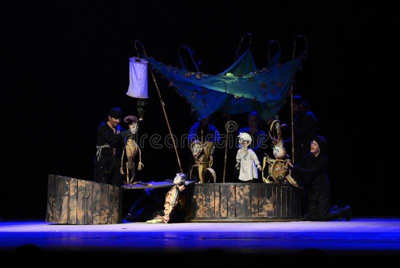 Le théâtre de marionnette de Zilina exécute l'histoire de Peter Pan photo libre de droits