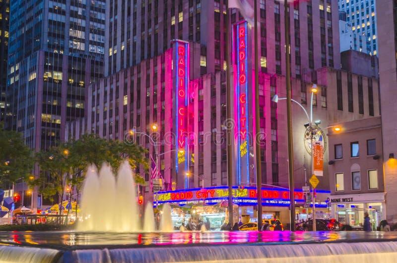 Le théâtre de variétés par radio de ville, New York photo libre de droits