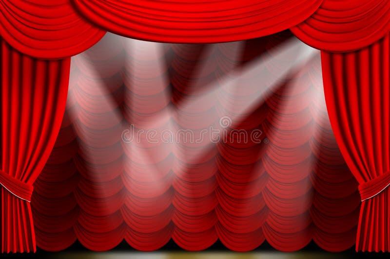 Le théâtre drape illustration libre de droits