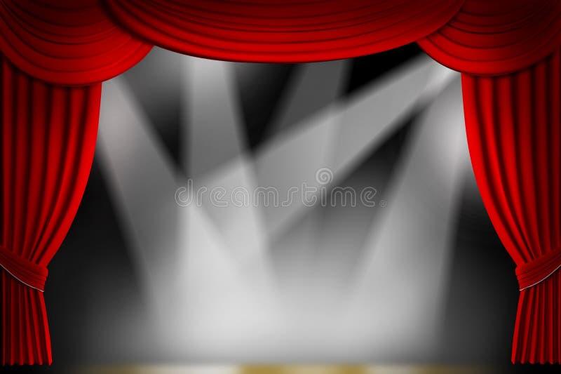 Le théâtre drape illustration stock