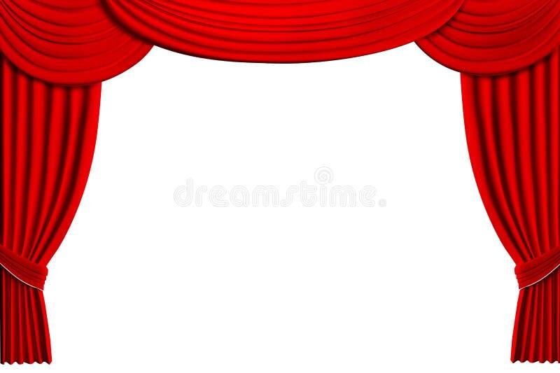 Le théâtre drape illustration de vecteur