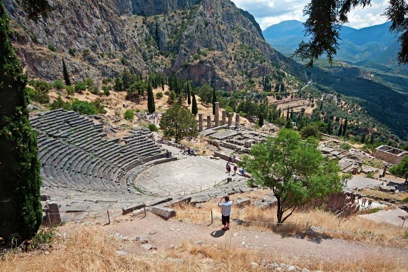 Le théâtre du sanctuaire d'Apollo photos stock