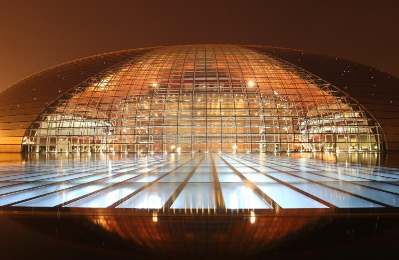 Le théâtre grand national de la Chine image stock