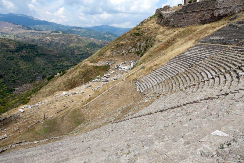 Le théâtre hellénistique dans Pergamon photographie stock