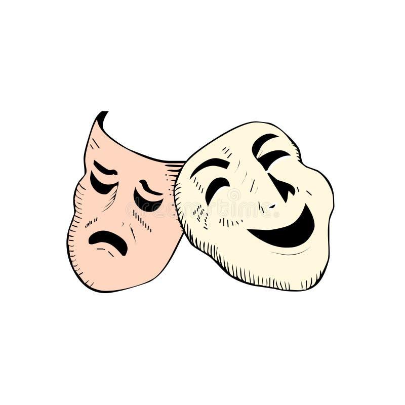 Le théâtre masque le vecteur illustration libre de droits