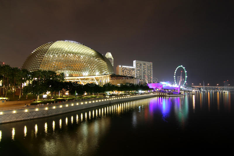 Le théâtre Singapour d'esplanade image stock
