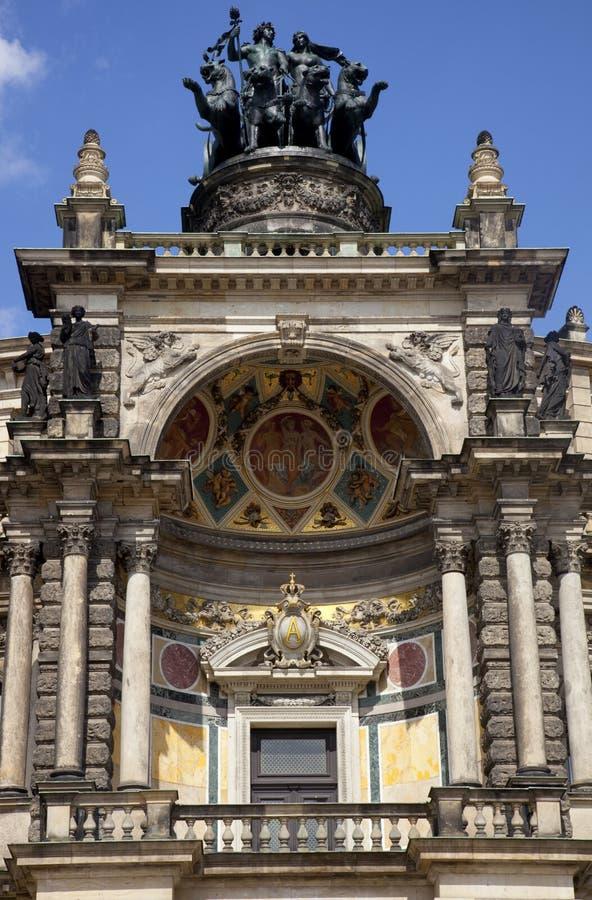 Le théatre de l'$opéra de Semper à Dresde photo libre de droits