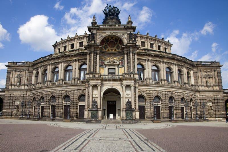 Le théatre de l'$opéra de Semper à Dresde images libres de droits