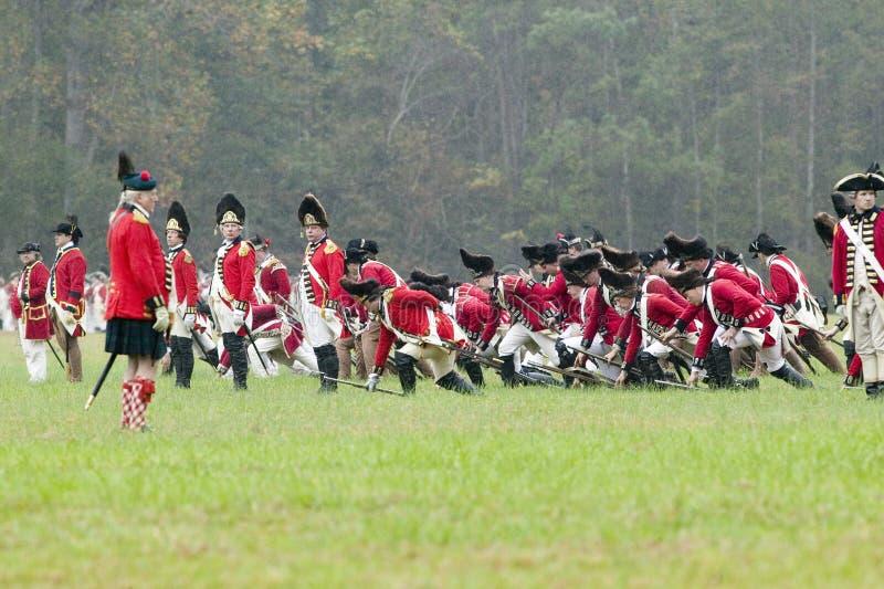 Le 225th anniversaire de la victoire chez Yorktown, une reconstitution du siège de Yorktown, où commande du Général George Washin photographie stock libre de droits