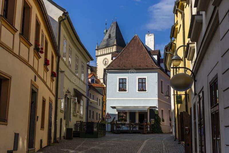 Le Thabor est une petite ville dans la République Tchèque image stock