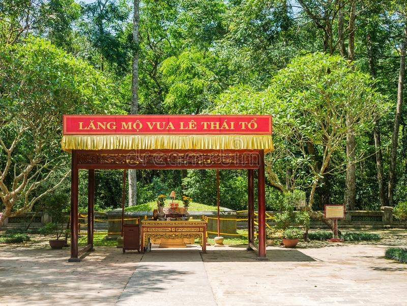 The Le Thai To mausoleum in Thanh Hoa, Vietnam. The Le Thai To mausoleum at Lam Kinh temple in Xuan Lam and Lam Son townlet of Tho Xuan district, Thanh Hoa stock image