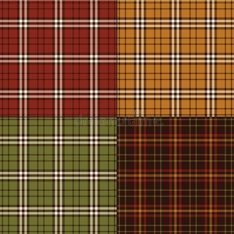 Le thanksgiving colore des plaids illustration stock