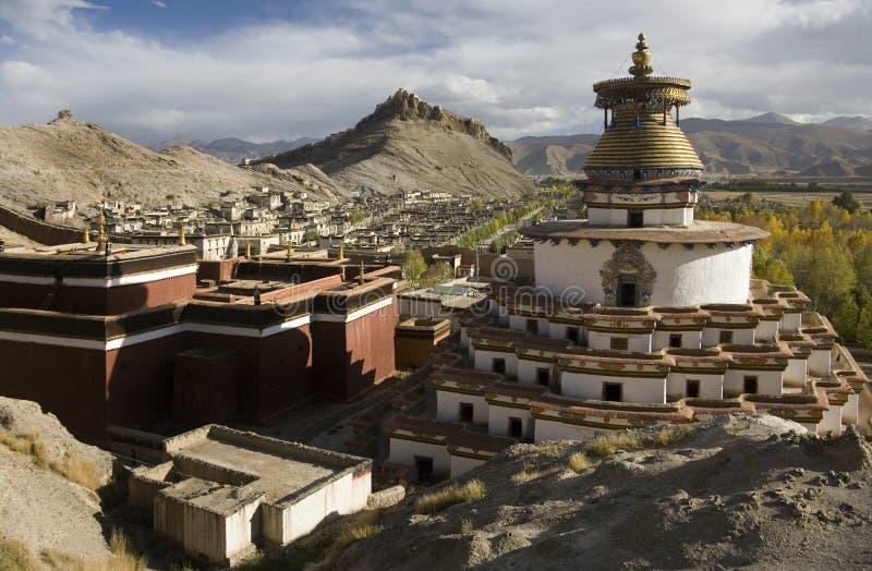 Le Thibet - le fort et le Kumbum de Gyantsie photos libres de droits