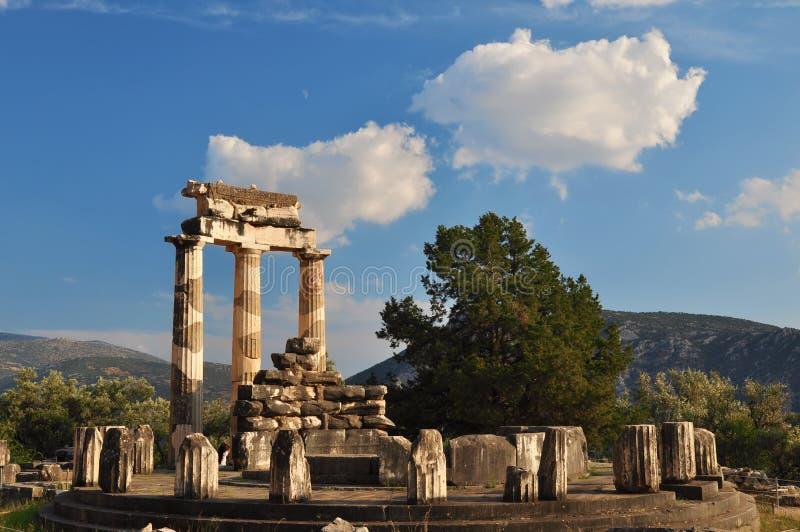 Le Tholos au sanctuaire d'Athéna Pronaia image libre de droits