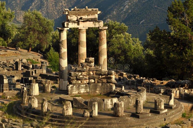 Le Tholos au sanctuaire d'Athéna Pronaia image stock