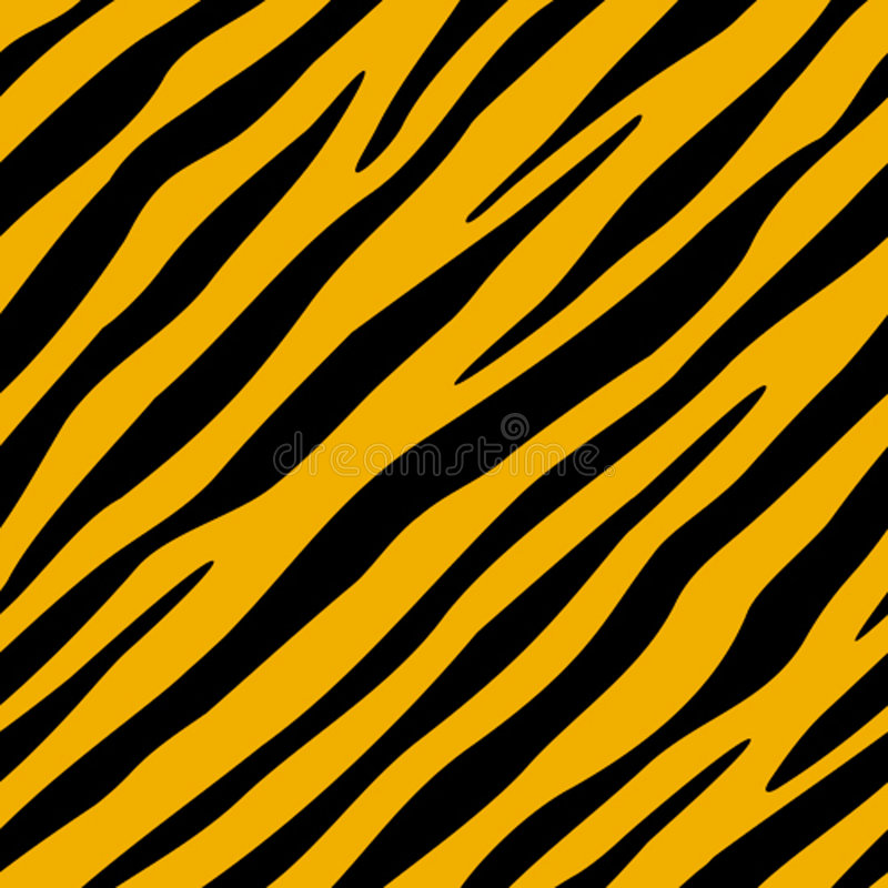 Le tigre est tombé (le papier peint de seamles) illustration libre de droits