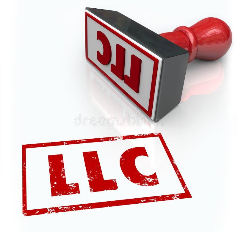 Le timbre de LLC Limited Liability Corporation marque avec des lettres l'approbation Certifi illustration libre de droits
