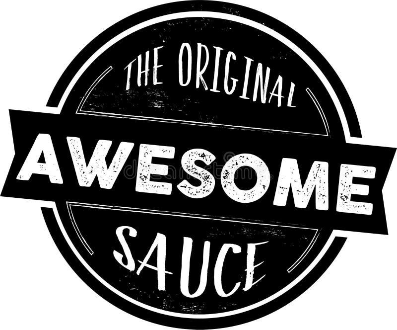 Le timbre impressionnant original de sauce, joint de vecteur photo stock