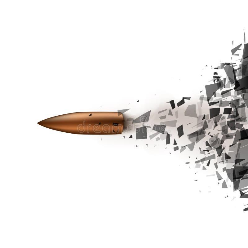 Le tir de balle a heurté le verre illustration libre de droits