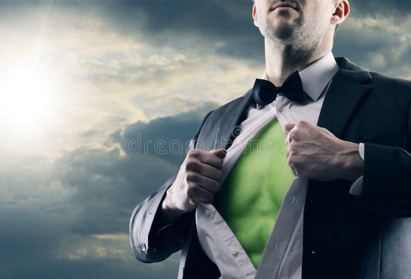 Uomo dell'energia pulita immagini stock