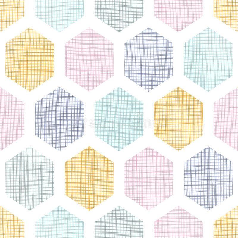 Le tissu coloré abstrait de nid d'abeilles a donné au fond une consistance rugueuse sans couture de modèle illustration libre de droits