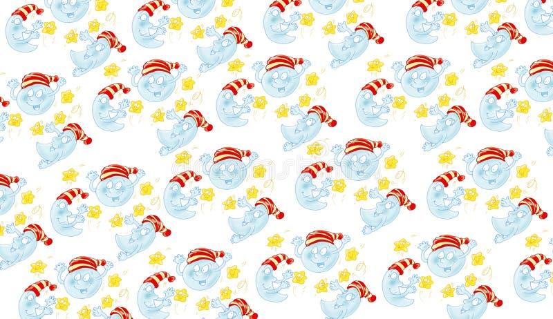 Le tissu d'enfants de tissu musarde des pyjamas petits illustration libre de droits