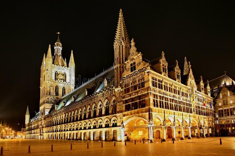 Le tissu Hall chez Ypres photographie stock libre de droits