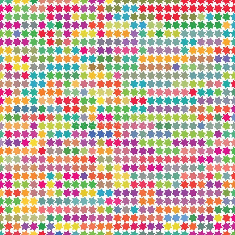 Le tissu lumineux d'étoiles de couleur d'arc-en-ciel dirigent la texture de modèle de fond illustration de vecteur