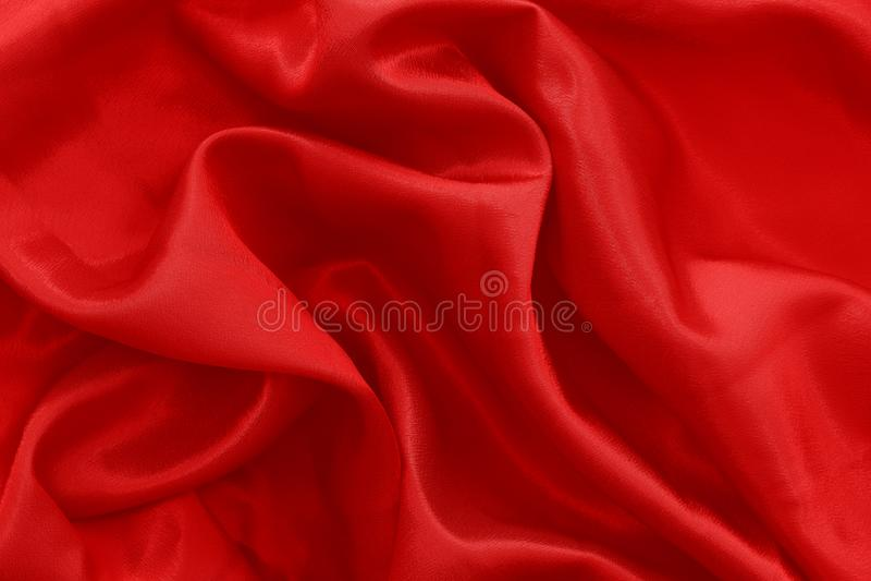Le tissu rouge ondule le fond de texture photographie stock