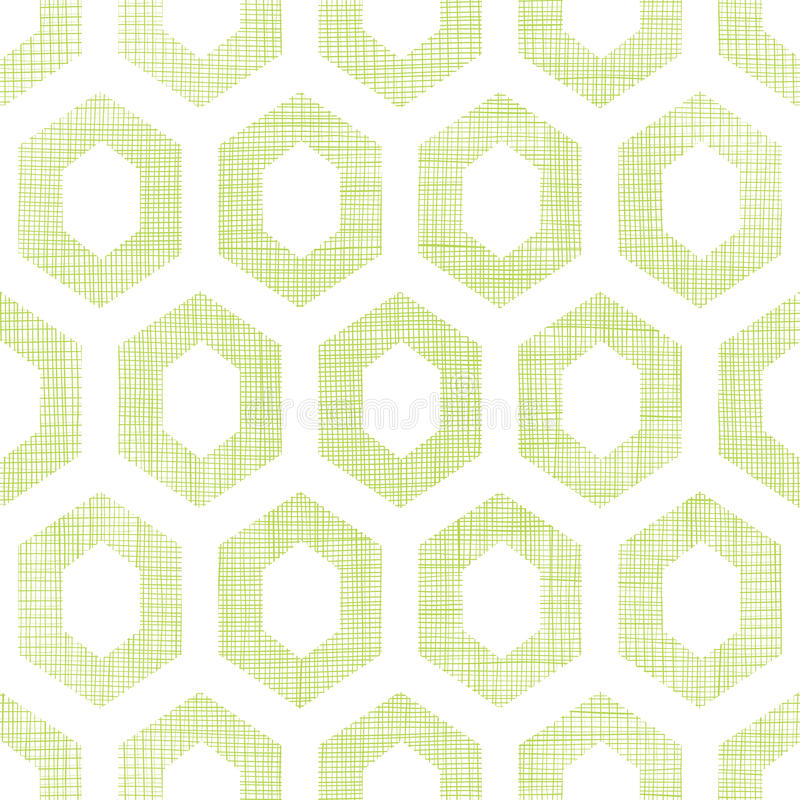 Le tissu vert abstrait a donné au fond une consistance rugueuse sans couture de modèle de coupe-circuit de nid d'abeilles illustration libre de droits