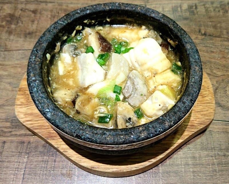 Le tofu de Veggie répand pot photo libre de droits