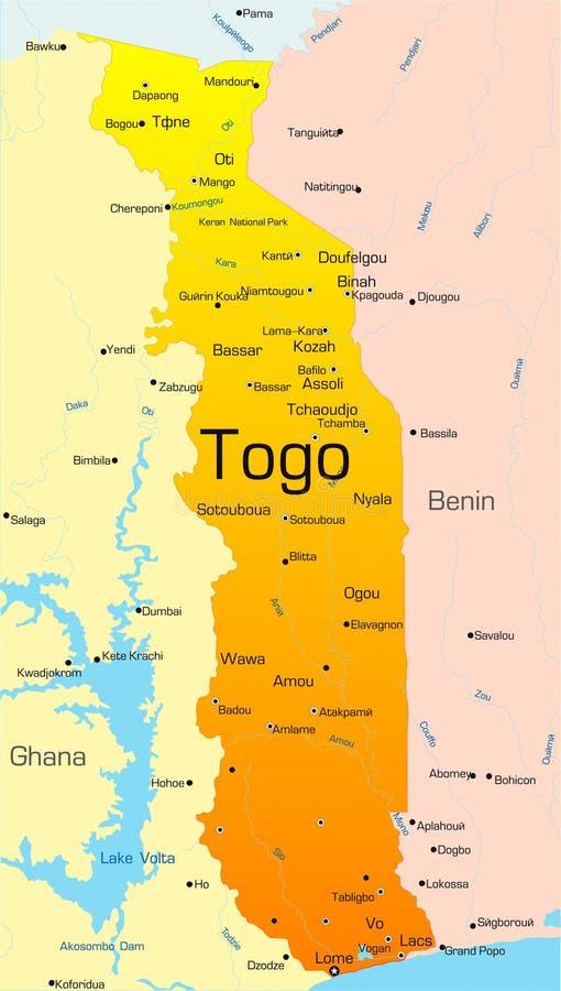 Le Togo illustration stock