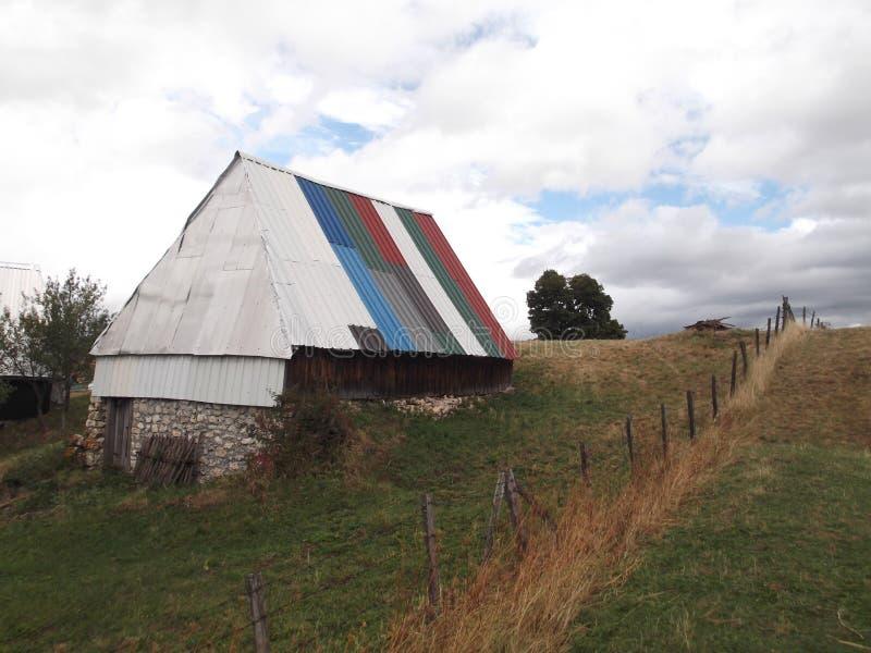 Le toit coloré photo libre de droits