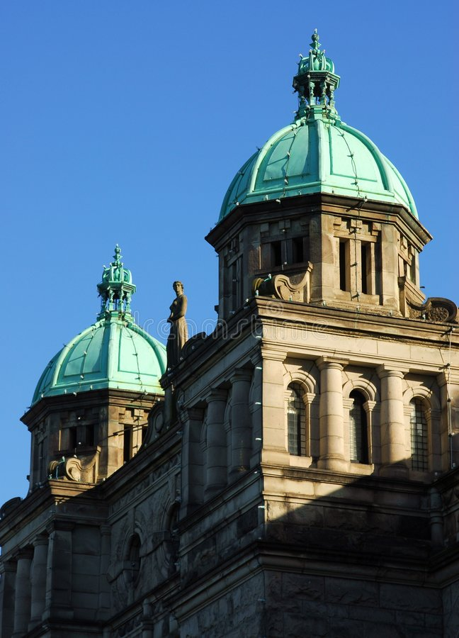 Le toit de la construction du parlement images libres de droits