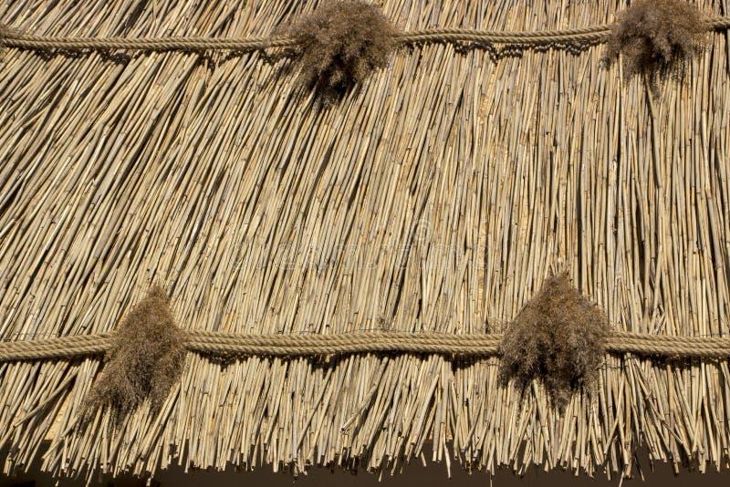 Le toit de la ligne, la texture, la vieille tradition ukrainienne dans l'architecture photographie stock libre de droits