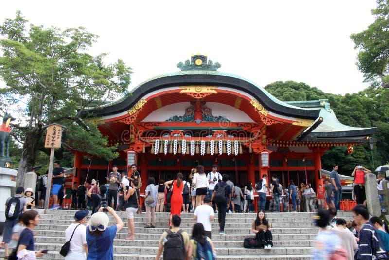 Le tombeau célèbre et iconique de Fushimi Inari à Kyoto, Japon Il W photo stock