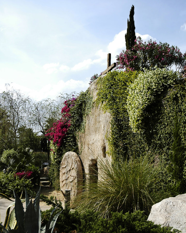 Le tombeau de jardin photographie stock