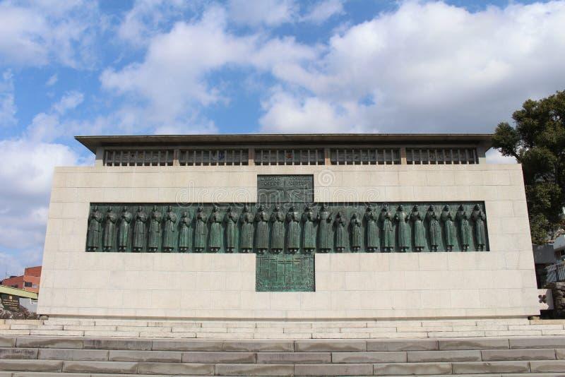 Le tombeau de 26 martyres de Nagasaki image stock