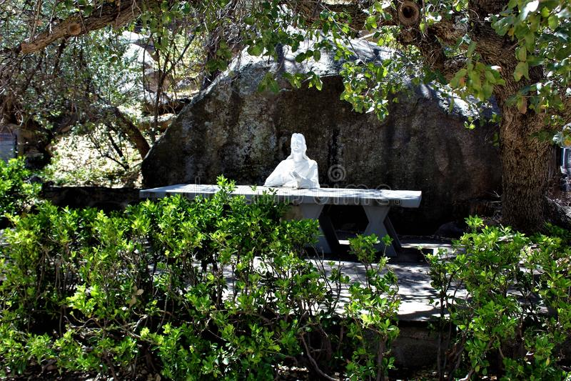 Le tombeau de Saint Joseph des montagnes, Yarnell, Arizona, Etats-Unis photos libres de droits