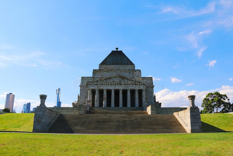 Le tombeau du souvenir ? Melbourne image libre de droits