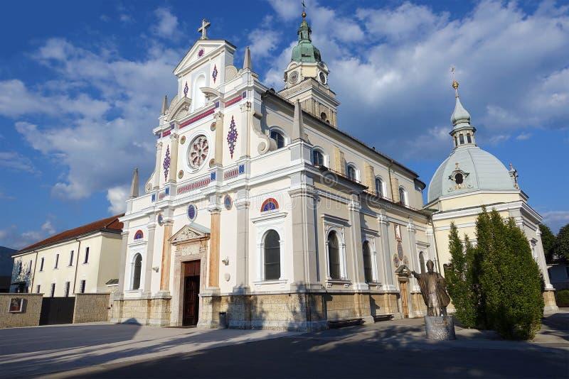 Le tombeau national Mary Help des chrétiens chez Brezje, Slovénie, l'Europe photos libres de droits