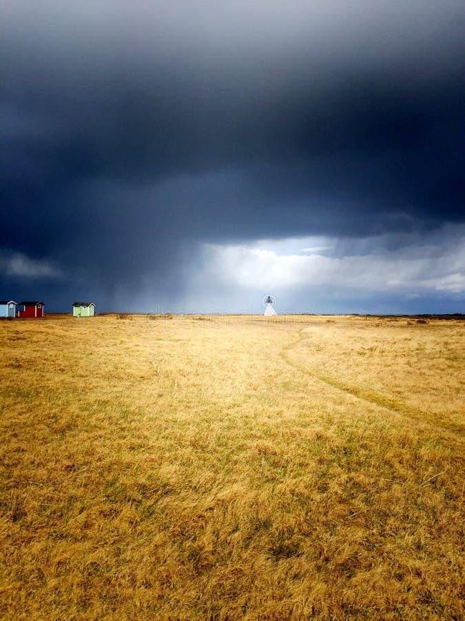 Le tonnerre vient en Suède photographie stock libre de droits