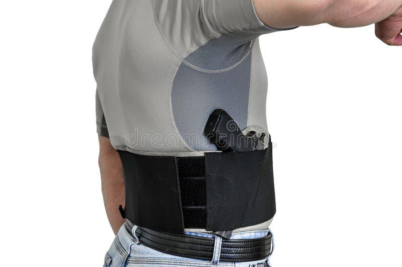 Le torse d'un homme s'est habillé dans des vêtements civils, sous la chemise photos stock