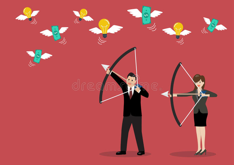 Le tour d'affaires trahissent le concept de situation d'avarice illustration de vecteur