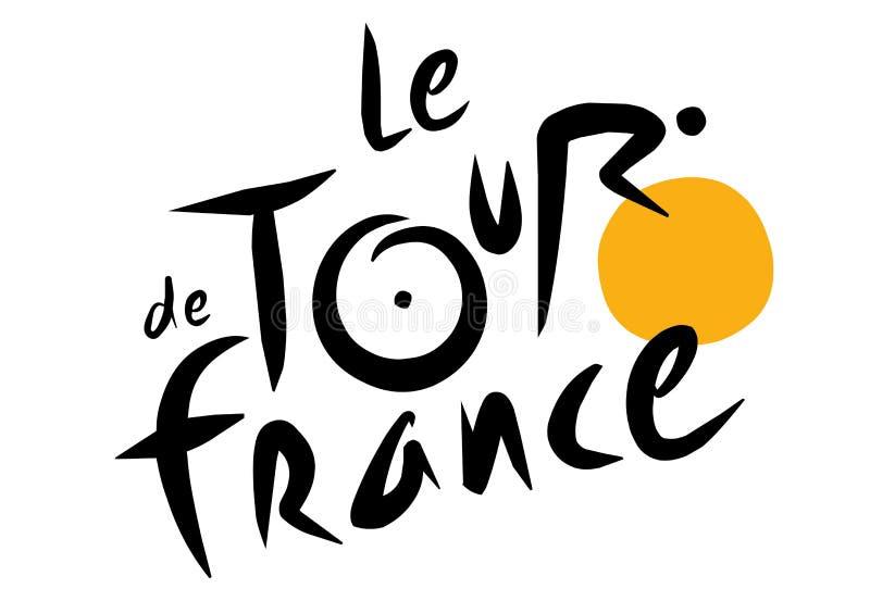 Le-Tour de Francelogo stock illustrationer