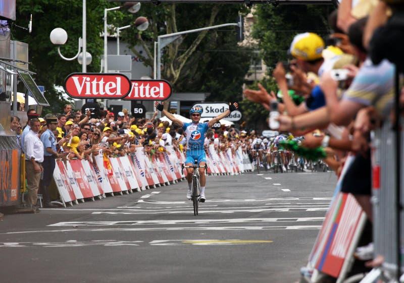 Le Tour DE Frankrijk 2009 - Om 4 Redactionele Stock Afbeelding