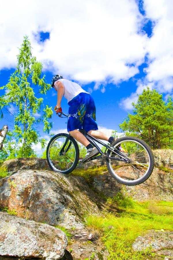 Le tour extrême de vélo images stock
